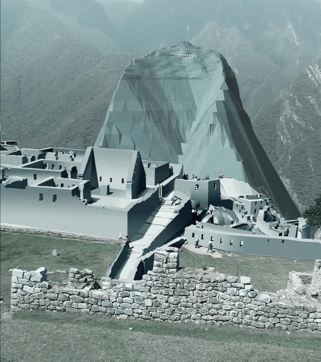 Tourist accomodation on the Patakuzi mountain in Peru, international contest