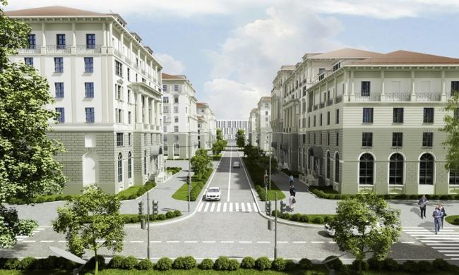 Концепция комплексной жилой застройки поселка Заречье © Архитектурная мастерская «АБВ»
