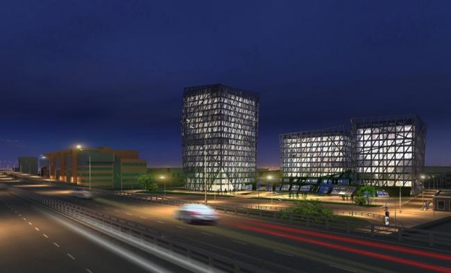 Многофункциональный комплекс в Магистральном тупике © Архитектурная мастерская «Группа АБВ»