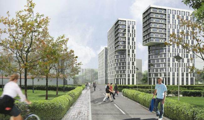 Концепция застройки жилого микрорайона Ржевники © Архитектурная мастерская «Группа АБВ»