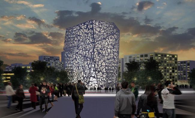 Административное здание на ул. Буракова © Архитектурная мастерская « Группа АБВ»
