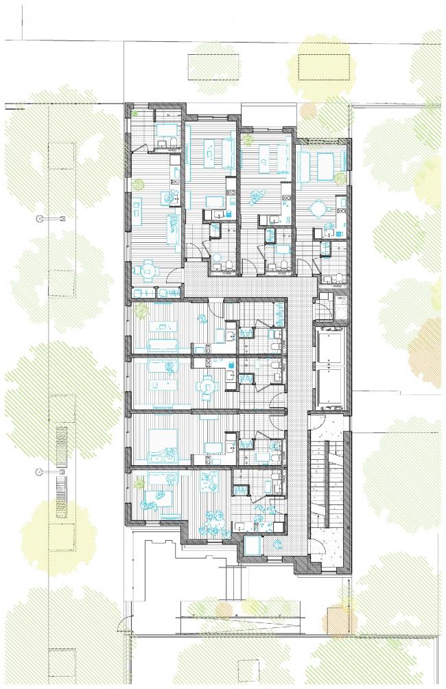 Многоквартирный дом Carmel Place © nARCHITECTS