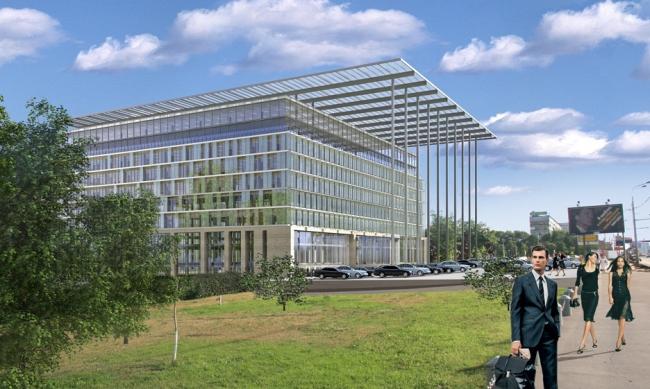 Реконструкция офисного здания на пр. Вернадского. Вариант 1 © Архитектурная мастерская «Группа АБВ»