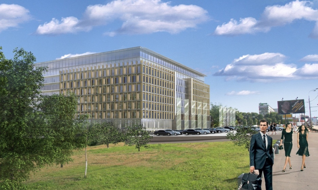 Реконструкция офисного здания на пр. Вернадского. Вариант 2 © Архитектурная мастерская «АБВ»
