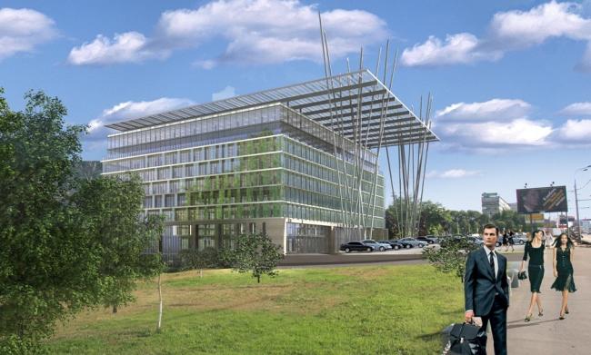 Реконструкция офисного здания на пр. Вернадского. Вариант 3 © Архитектурная мастерская «Группа АБВ»