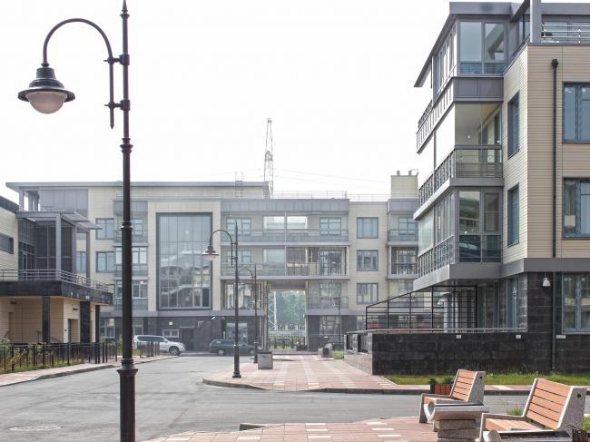 Застройка квартала в районе «Балтийская жемчужина» (жилой комплекс Dudergoff club). Постройка, 2016 © Архитектурная мастерская Цыцина