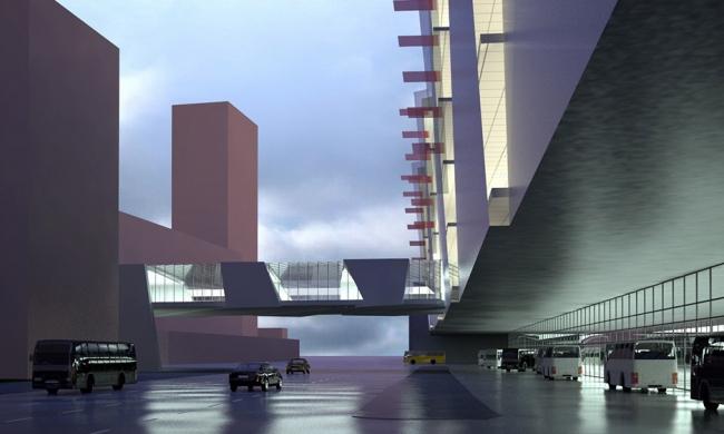 Общественное здание на Фестивальной улице. Проект, 2007 © Архитектурная мастерская «Группа АБВ»