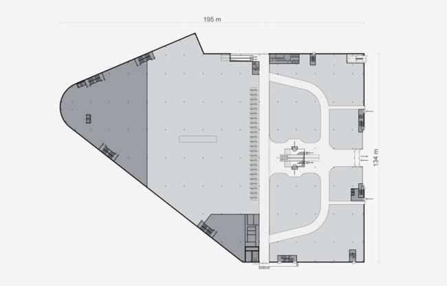 Многофункциональный торгово-развлекательный центр на ул. Сталеваров. Проект, 2006 © Архитектурная мастерская «Группа АБВ»
