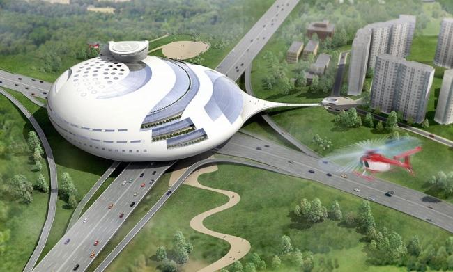 Многофункциональный комплекс на Мичуринском проспекте. Проект, 2006 © Архитектурная мастерская «Группа АБВ»