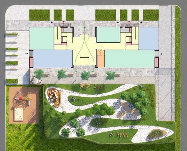 """""""Caramel"""" housing complex. Construction, 2016 © ADM"""