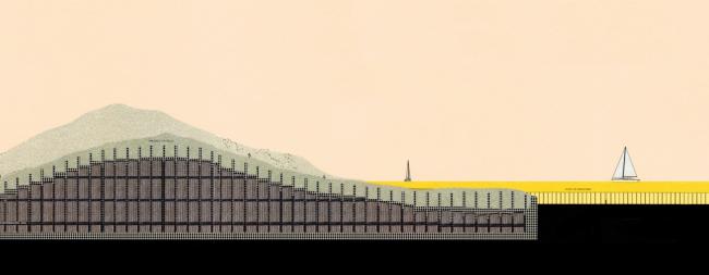 Архитектура искусственного, зрелищного и воинственного. Размышление от отношениях Окленда с его гаванью. Франсис Купер, университет Окленда, руководитель Джереми Тредвел. Победитель Архипри