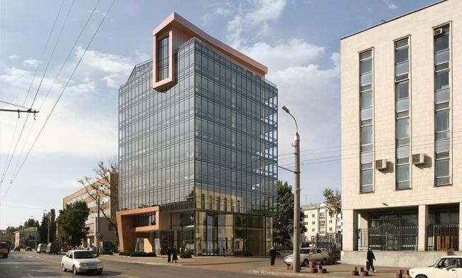 Офисно-торговый центр в г. Пенза. Проект, 2006 © Архитектурная мастерская «Группа АБВ»