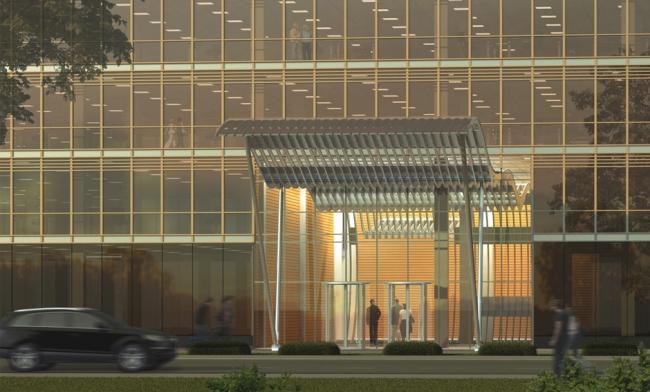 Административное здание на ул. Василисы Кожиной. Проект, 2007 © Архитектурная мастерская «Группа АБВ»