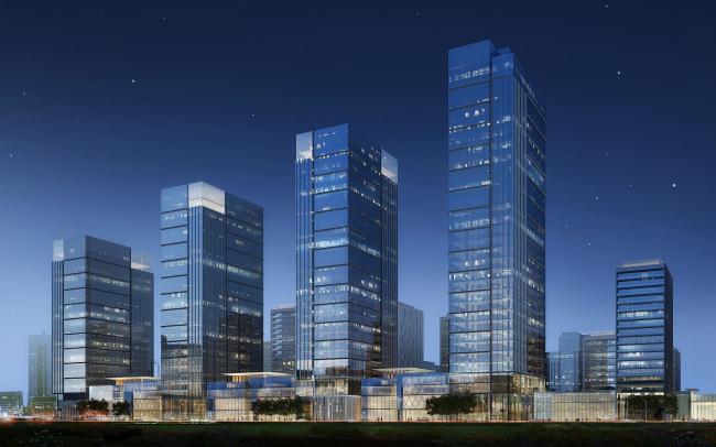 Многофункциональный жилой комплекс BI CITY. 2014-2022. Первая очередь: «Зеленый квартал», 2016. © INK Architects
