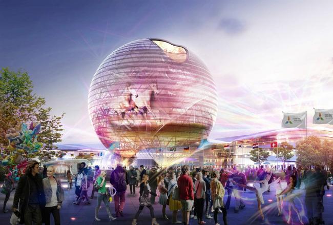 Выставочный комплекс «Астана EXPO-2017». Проект, 2013. Реализация, 2016 ©  Adrian Smith + Gordon Gill Architecture