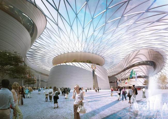 Выставочный комплекс «Астана EXPO-2017». Конференц-центр. Проект, 2013. Реализация, 2016 ©  Adrian Smith + Gordon Gill Architecture