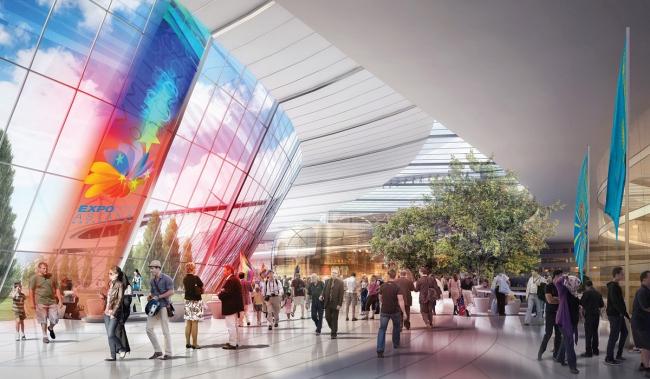 Выставочный комплекс «Астана EXPO-2017». Международный павильон. Проект, 2013. Реализация, 2016 ©  Adrian Smith + Gordon Gill Architecture