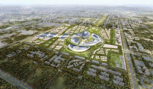 Выставочный комплекс «Астана EXPO-2017». Общий вид. Проект, 2013. Реализация, 2016 ©  Adrian Smith + Gordon Gill Architecture