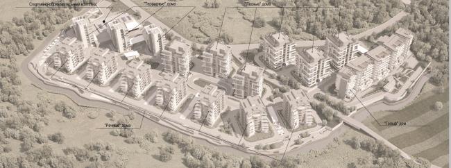 Жилой комплекс «Олимпийская деревня Новогорск. Квартиры». Расположение домов © Архитектуриум