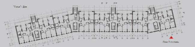 Жилой комплекс «Олимпийская деревня Новогорск. Квартиры». Дом «Гольф». План 7 этажа © Архитектуриум