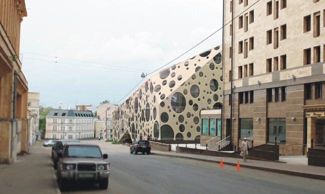 Бизнес-центр в Подколокольном переулке. Проект, 2008 © Архитектурная мастерская «Группа АБВ»