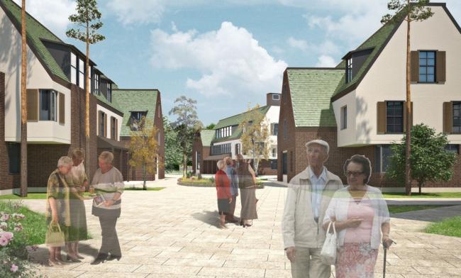Загородный поселок на 330 жителей. Конкурсный проект, 2014 © Архитектурная мастерская «Группа АБВ»