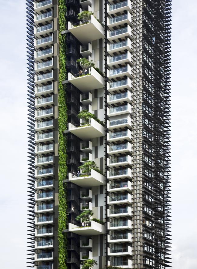 Башня Newton Suites, 2007 © WOHA