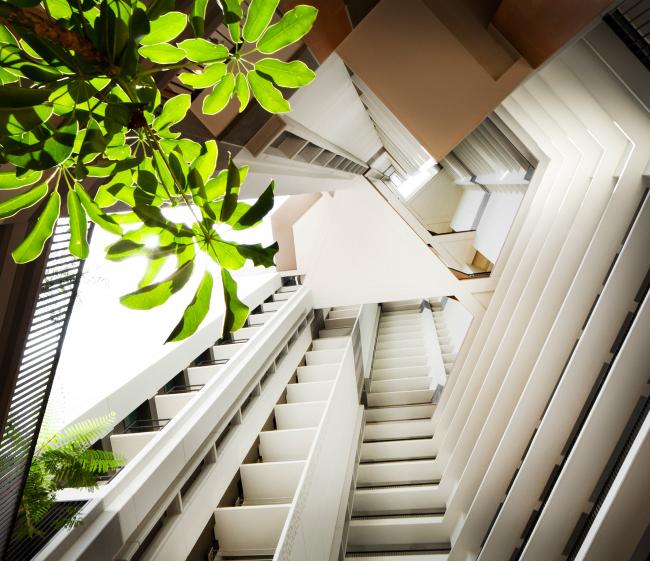 Комплекс социального жилья SkyVille@Dawson, реализация, 2007-2015 © WOHA