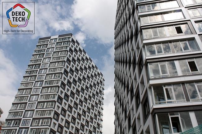 Фасад с 3D-эффектом. Проект V-House, разработанный архитектурной мастерской «Сергей Кисилев и партнеры». Фото предоставлено компанией «Декотек Инжиниринг»