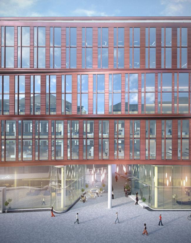 Многофункциональный комплекс «Алкон» на Ленинградском проспекте. Проект, 2014. Ведется строительство © ADM