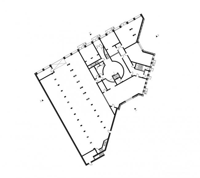 Жилой дом на ул. Чапаева. План 1-го этажа.