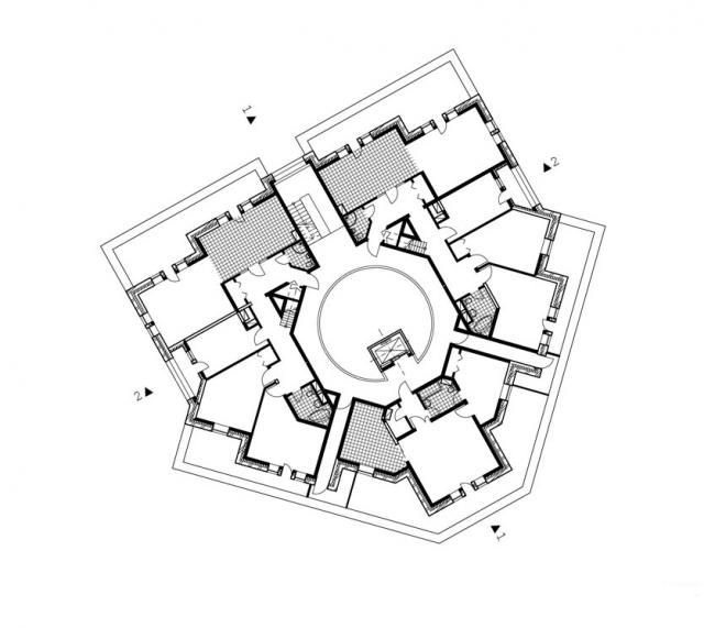 Жилой дом на ул. Чапаева. План 7-го этажа.