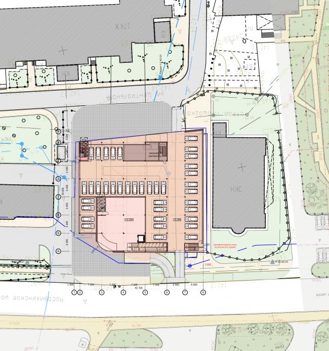 Торгово-административный центр «Меркурий». Генеральный план. Проект, 2016 © Архстройдизайн