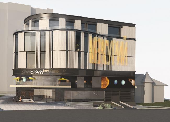 Торгово-административный центр «Меркурий». Вариант 3. Проект, 2016 © Архстройдизайн