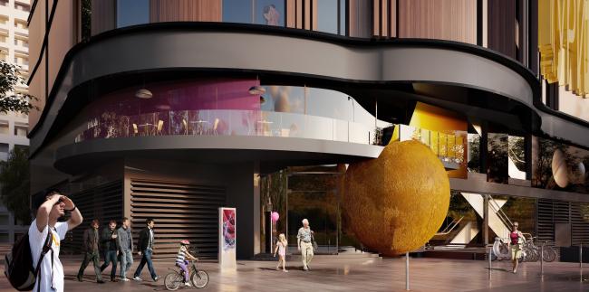 Торгово-административный центр «Меркурий». Вариант 2. Проект, 2016 © Архстройдизайн