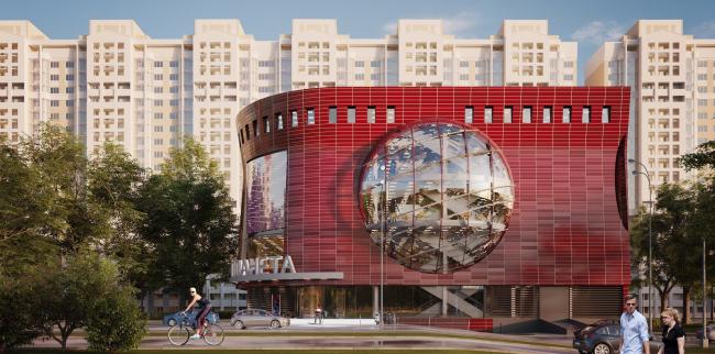 Торгово-административный центр «Меркурий». Вариант 1. Проект, 2016 © Архстройдизайн