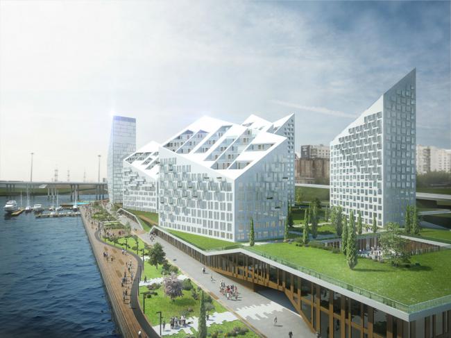 Жилой комплекс на Ленинградском шоссе. Проект, 2014 © ABD architects