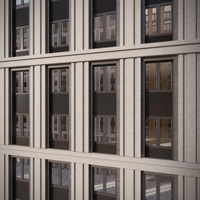 Жилой комплекс «Царская площадь». Фрагмент фасада