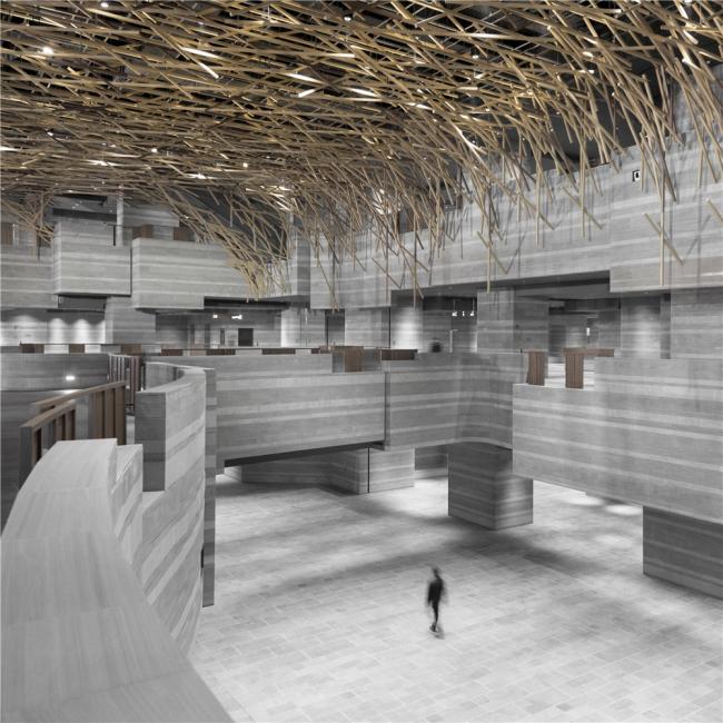 Культурный центр The HUB. Выставочный зал («Лес») © Dirk Weiblen