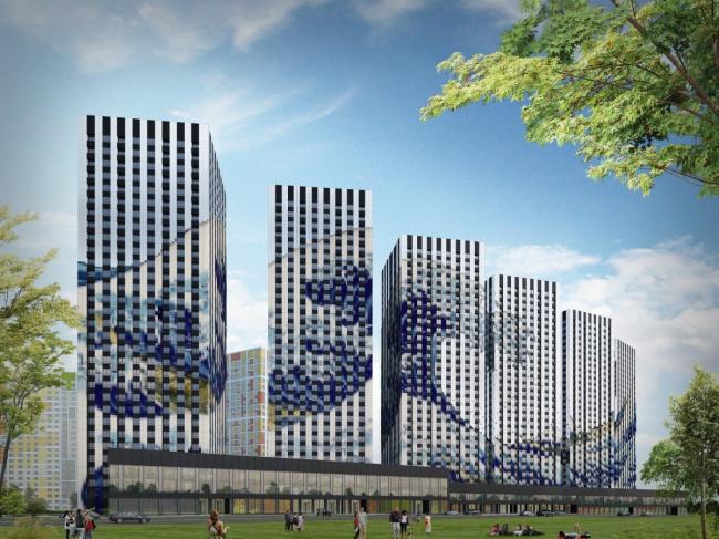 Высотные дома жилого комплекса «Эталон-сити»