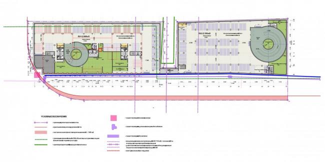Многоэтажный жилой дом «The MID». План-схема типового подземного этажа.  Реализация, 2017 © SPEECH