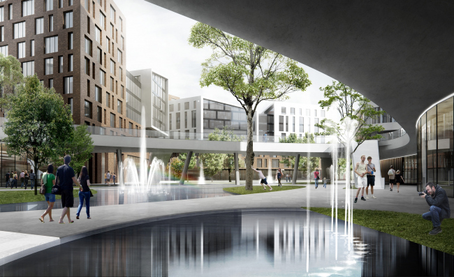 """""""Silver Fountain"""" residential complex. Project, 2016 © Atrium"""
