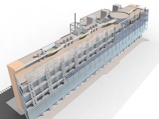 Аксонометрическая модель здания