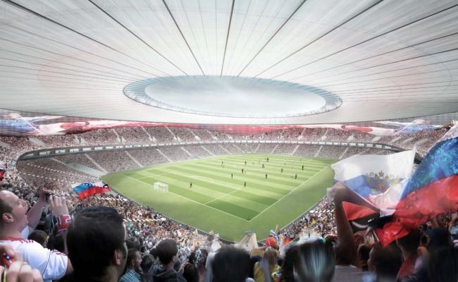 Cтадион ФК «Краснодар». Проект, 2011-2013 © SPEECH