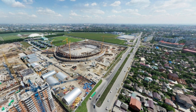 Cтадион ФК «Краснодар» на стадии строительства © SPEECH