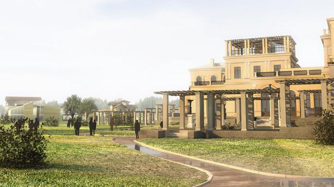 Загородный кампус ВШМ СПбГУ на базе дворцово-паркового ансамбля «Михайловская дача». Реконструируемые части