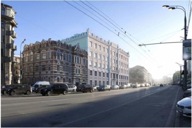 Проект реконструкции офисного здания под гостиничный комплекс на Большой Якиманке © «Хоумленд Архитектура»