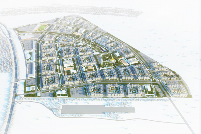 Architectural and town planning concept of housing construction in the city of Orenburg © Sergey Kisselev and Partners
