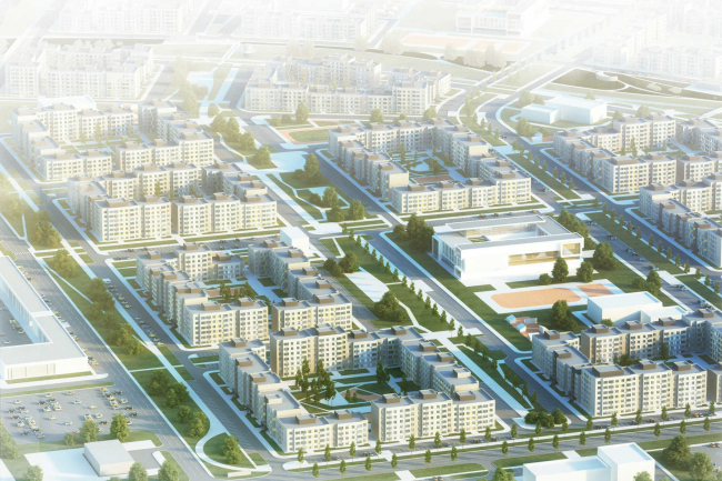 Architectural and town planning concept of housing construction in the city of Orenburg. Project, 2016 © Sergey Kisselev and Partners
