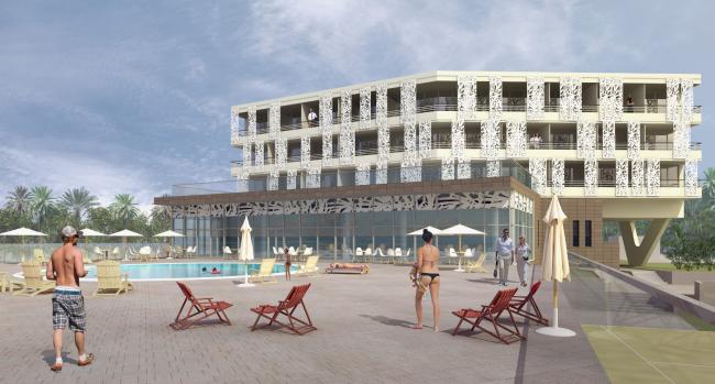 Многофункциональный гостиничный комплекс в Сочи. Проект, 2015 © Сергей Киселёв и Партнеры